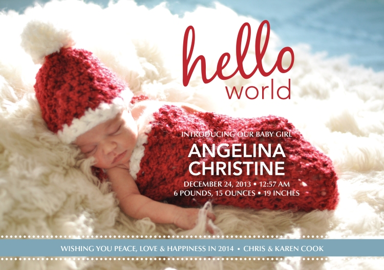 Angelina Birth Announcement